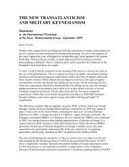 Custers, The New Transatlanticism and military ... - IPE Berlin