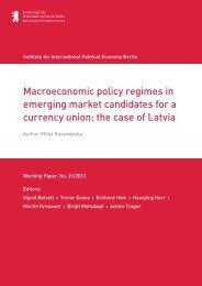 Macroeconomic policy regimes in emerging market ... - IPE Berlin