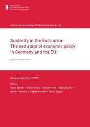 Austerity in the Euro area: Thesadstate of economic ... - IPE Berlin