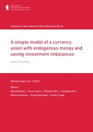 Dirk Ehnts, A simple model of a currency union with ... - IPE Berlin