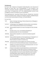 Ausführliches CV mit weiteren Publikationen - IPE Berlin