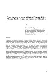 Sifakis, From Progress to backtracking in the EU - IPE Berlin