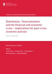'financialisation' and the financial and economic crisis - IPE Berlin