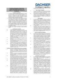 DACHSER Conditions Générales d'Achat (22.07.2003) 1
