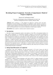 Revisiting Project Complexity: Towards a Comprehensive ... - ipedr