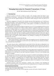 Managing Innovation for Financial Transactions: F-Trans - ipedr