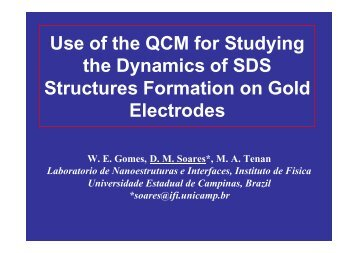Use of the QCM for Studying the Dynamics of SDS Structures ...