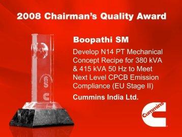 Boopathi SM - Cummins