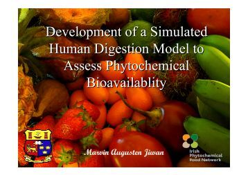 Marvin Jiwan's Presentation - Irish Phytochemical Food Network