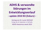 ADHS & verwandte Störungen im Entwicklungsverlauf