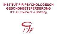 INSTITUT FIR PSYCHOLOGESCH GESONDHEETSFËRDERONG