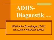 IPSM-adhs Grundlagen, Teil 2 Dr. Lucien NICOLAY (2009)