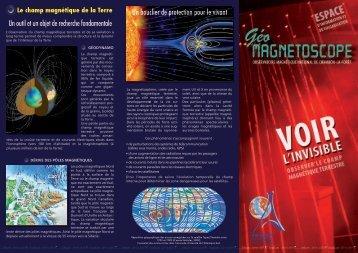 Télécharger la plaquette de présentation du Géomagnétoscope