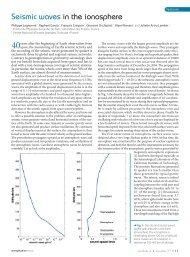 Seismic waves in the ionosphere - Institut de Physique du Globe de ...