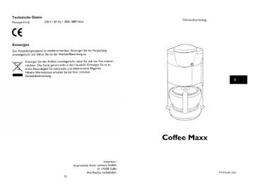 Kaffeemaschine Coffee Maxx