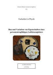 Facharbeit in Physik Bau und Variation von Eigenschaften eines ...