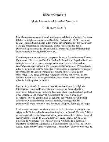 El Pacto Centenario Iglesia Internacional Santidad Pentecostal 31 ...