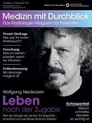Patientenmagazin Medizin mit Durchblick, Ausgabe 2, November 2013