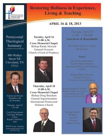 download the flyer here. - International Pentecostal Holiness Church