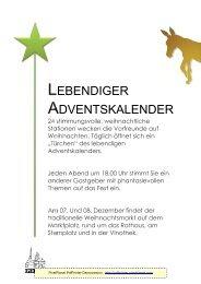 LEBENDIGER ADVENTSKALENDER - Iphofen