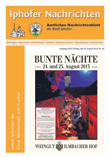 BUNTE NÄCHTE - Iphofen