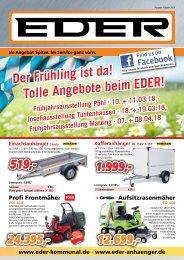 EDER Kommunaltechnik - Anhängercenter mit TOP Preisen in Tuntenhausen