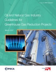 Oil and Natural Gas Industry Guidelines for GHG Reduction Projects
