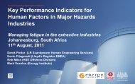 Early indicators of fatigue - Ian Hamilton (Lloyd's Register) - IPIECA