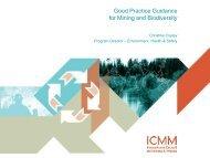 ICMM's Good Practice Guidance on Mining and Biodiversity - IPIECA