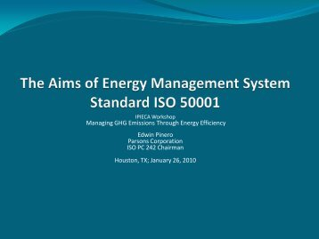 ISO and IEA Energy Management standards - IPIECA