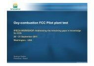Oxy-combustion FCC Pilot plant test - IPIECA