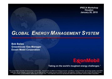 Global Energy Management System (GEMS) - IPIECA