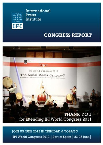 CONGRESS REPORT - IPI World Congress