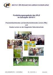 Fortbildungsangebote des IPLE im Schuljahr 2010/11 - Institut für ...