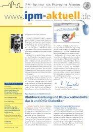 Ausgabe 1/2009 - IPM - Institut für Präventive Medizin