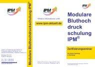 Modulare Bluthoch druck schulung IPM - IPM - Institut für Präventive ...