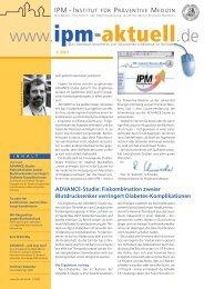 Ausgabe 1/2007 - IPM - Institut für Präventive Medizin