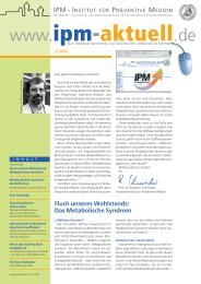 Ausgabe 2/2006 - IPM - Institut für Präventive Medizin