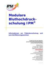Modulare Bluthochdruck - IPM - Institut für Präventive Medizin