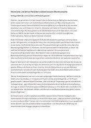 Pressemitteilung vom 23.05.2005 - IPM - Institut für Präventive Medizin