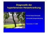Diagnostik der Diagnostik der hypertensiven Herzerkrankung