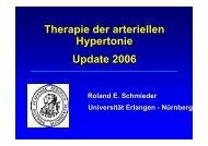 Therapie der arteriellen Hypertonie Update 2006 - IPM - Institut für ...