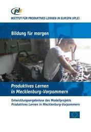 Produktives Lernen in Mecklenburg-Vorpommern - Institut für ...