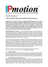 PRESS RELEASE 1,250 new WLAN hotspots for ... - IPmotion GmbH