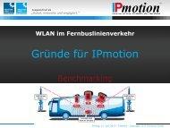 Der direkte Leistungs-Vergleich im Markt - IPmotion GmbH