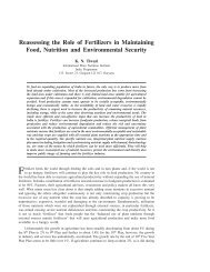 Reassessing the Role of Fertilizers in Maintaining Food, Nutrition ...
