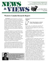 Western Canada Research Projects - International Plant Nutrition ...