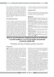 Efecto de diferentes combinaciones de nitrógeno y azufre sobre el ...