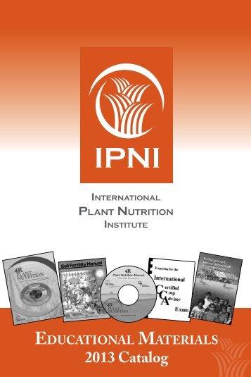 Download 2013 IPNI Catalog - International Plant Nutrition Institute