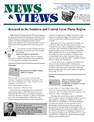 Research in the Southern and Central Great Plains Region